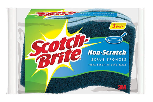 Scotch-Brite Non-Scratch Scrub Sponge, Cleaning Power for Everyday Jobs, 24 Scrub Sponges