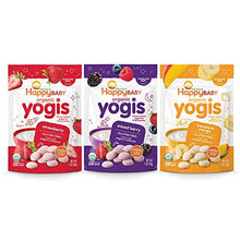 Load image into Gallery viewer, Happy Family Happy Baby Organic Yogis Freeze-Dried Yogurt & Fruit Snacks, Variety Pack, 6 Count (2 of Each Flavor) VARHY-6 Pack of 6