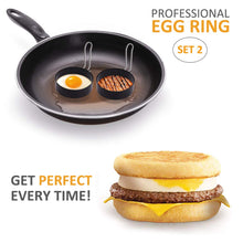 Load image into Gallery viewer, Stainless Steel Egg Ring,2 Pack Round Breakfast Household Mold Tool Cooking,Round Egg Cooker Rings For Cooking Egg Maker Molds