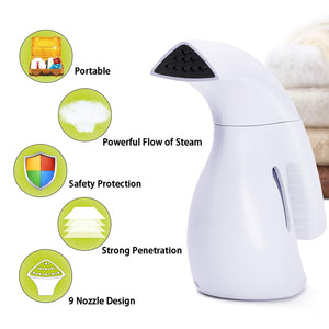 Miss Gorgeous Travel Garment Steamer Portable Handheld Steamer for Clothes/Fabric, Wrinkle Remover/Clean/Sanitize/Sterilize/Defrost, Fast Heat Up Perfect for Home/Travel