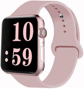 VATI Sport Band Compatible for Apple Watch Band 38mm 40mm 42mm 44mm, Soft Silicone Sport Strap Replacement Bands Compatible with 2019 Apple Watch Series 5, iWatch 4/3/2/1, Sport, Nike+, Edition
