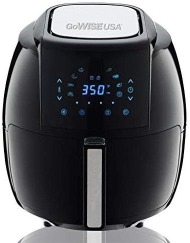 GoWISE USA GW22731 1700-Watt 5.8-QT 8-in-1 Digital Air Fryer + Recipes, Black