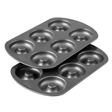 Load image into Gallery viewer, Wilton Non-Stick 6-Cavity Donut Baking Pans, 2-Count