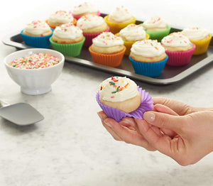 Basics Reusable Silicone Baking Cups, Muffin and Cupcake, Pack of 24