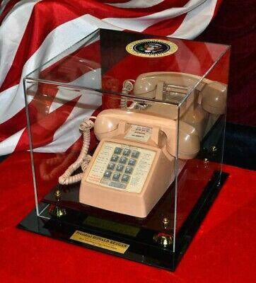 President RONALD REAGAN vintage White House TELEPHONE in CASE, RARE & WORKS!