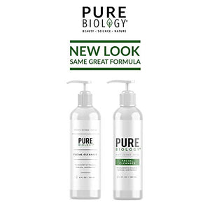 Pure Biology Facial Cleanser with Hyaluronic Acid – Anti Aging Face Wash Helps Minimize Pores & Calm Acne, Smooth Wrinkles & Brighten Complexion for Men & Women of All Skin Types, 6oz Nipple size 06-143