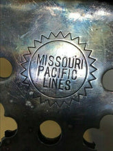 Load image into Gallery viewer, MISSOURI PACIFIC LINES RAILROAD - MENU PEN HOLDER - SILVER PLATED - TRAIN - RARE