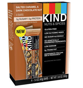 KIND Bars, Salted Caramel & Dark Chocolate Nut, Gluten Free, 48 Count