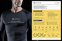 Load image into Gallery viewer, ATHLIO Men's Cool Dry Compression Long Sleeve Baselayer Athletic Sports T-Shirts Tops, 3pack Round Neck(bls01) - Black/Charcoal/White, Large 3pack Round Neck(bls01) - Black/ Charcoal/ White