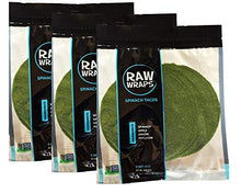 Load image into Gallery viewer, Raw Wraps All Natural 3 Pack Spinach Tacos (Spinach, 3 Pack)