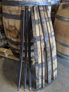 "20 Authentic Bourbon/Whiskey Barrel Staves (1.5"" and Narrower)"