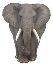 "Load image into Gallery viewer, Ebros Gift Ebros Woolly Safari Marching Bush Elephant Wall Decor 18"" Tall 3D Sculpture Plaque Figurine Symbol of Nobility and Strength Feng Shui Symbol Excellent Home Decor Gift for Wildlife Nature Lovers Large Grey"
