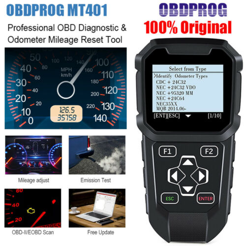 OBDPROG MT401 Odometer Correction Mileage Adjustment Auto OBD2 Diagnostic Tool