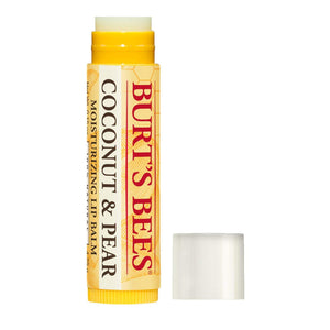 Burt's Bees 100% Natural Moisturizing Lip Balm, Coconut & Pear with Beeswax & Fruit Extracts - 4 Tubes