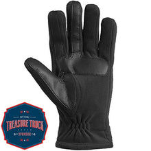 Load image into Gallery viewer, Isotoner Men's Tech Stretch Smartouch Fleece Palm Gloves, Black MD 60742 Medium