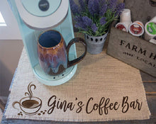 Load image into Gallery viewer, Personalized Coffee Bar Placemat