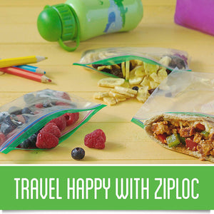 Ziploc Snack Bags, Easy Open Tabs, Ideal for packing cookies, fruits, vegetables, chips and more, 90 Count, Pack of 3