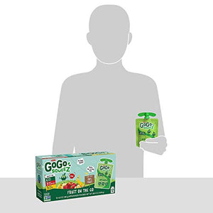 GoGo squeeZ Applesauce on the Go, Variety Pack (Apple/Banana/Strawberry), 3.2 Ounce (12 Pouches), Gluten Free, Vegan Friendly, Unsweetened, Recloseable, BPA Free Pouches (Packaging May Vary) 120464