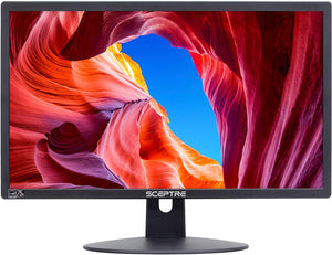 "Sceptre E225W-19203R 22"" Ultra Thin 75Hz 1080p LED Monitor 2X HDMI VGA Build-in Speakers & Logitech MK345 Wireless Combo – Full-Sized Keyboard with Palm Rest and Comfortable Right-Handed Mouse"