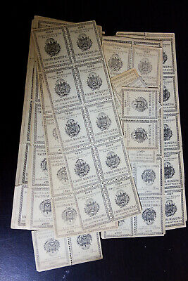 Salvador 1897 Hoard of 235 Mint Revenue Stamps Rare find