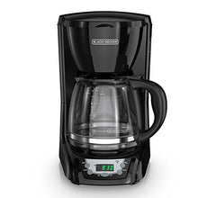 Load image into Gallery viewer, BLACK+DECKER DLX1050B 12-cup  Programmable Coffee Maker with glass carafe, Black DLX1050B-1