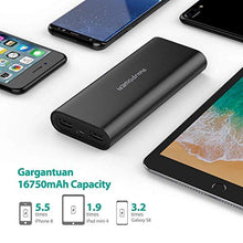 Load image into Gallery viewer, Portable Charger RAVPower 16750 Updated Phone Charger Battery 16750mAh Power Banks (4.5A Dual USB Output, iSmart 2.0 Tech) Phone Battery Pack for iPhone XS, iPhone X, iPad, Android Devices CA-RP-PB010-B Black