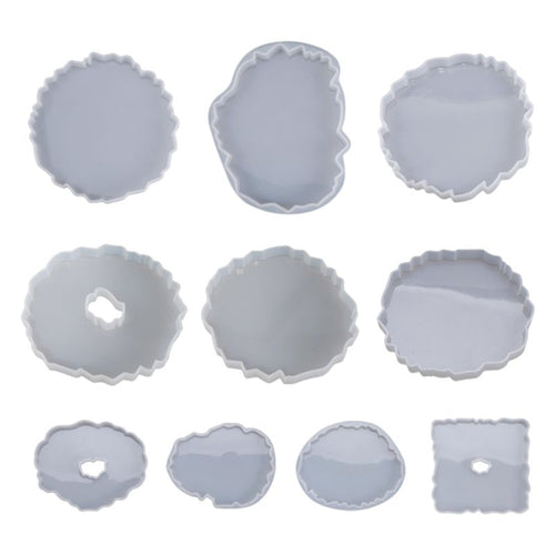 Silicone Crystal Epoxy Resin Mold Irregular Wave Coaster Mat Casting Mould Handmade DIY Crafts Decoration Making Tool