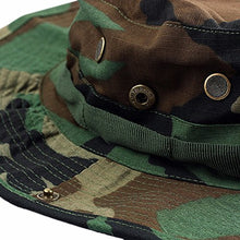 Load image into Gallery viewer, squaregarden Military Camo Adjustable Boonie Hat Hunting Bucket Hats / Woodland Camo One Size #1-woodland Camo