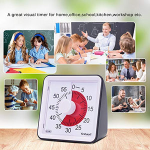 Yunbaoit Visual Analog Timer,Silent Countdown Clock, Time Management Tool for...
