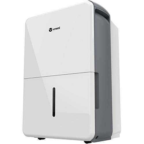 Vremi 1,500 Sq. Ft. Dehumidifier Energy Star Rated for Medium Spaces and Basements - Quietly Removes Moisture to Prevent Mold and Mildew 30 Pint White