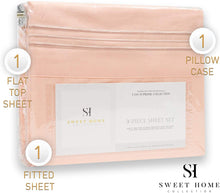 Load image into Gallery viewer, 1500 Supreme Collection Extra Soft Twin Sheet Set, Peach - Luxury Bed Sheet Set with Deep Pocket Wrinkle Free Hypoallergenic Bed Sheets, Twin Size, Peach