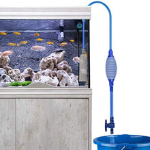 Load image into Gallery viewer, Number-one Fish Tank Cleaner, Aquarium Water Changer Gravel Filter Aquarium Siphon Vacuum Pump Water Changing Sand Washing Adjustable Water Flow with Inbuilt Strainer Outlet Valve Pumping Airbag Blue