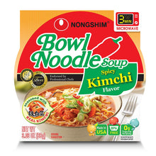 Load image into Gallery viewer, Nongshim Bowl Noodle Soup, Kimchi, 3.03 Ounce (Pack of 12)