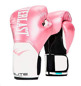 Everlast Elite Pro Style Training Gloves, Pink/White, 8 oz P00001244