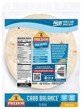 Load image into Gallery viewer, Mission Foods Mission Carb Balance Soft Taco Flour Tortillas | Low Carb, Keto | High Fiber, No Sugar | Small Size | 8 Count