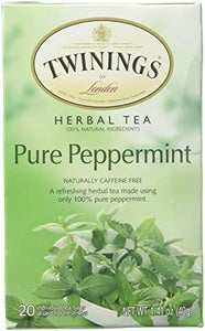 Twinings of London Pure Peppermint Herbal Tea Bags, 20 Count (Pack of 1) 70177067779