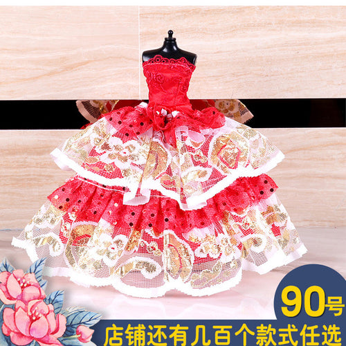 12 Inch Doll Clothes Wedding Dress Dollhouse Accessories  Dressing Cloth Baby Girl Clothes American Girl Doll Clothes Toys