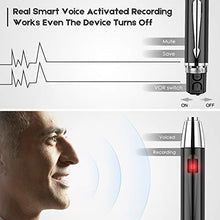 Load image into Gallery viewer, Digital Voice Recorder for Lectures - EVIDA 16GB Voice Activated Audio Recorder Long Battery Dictaphone Recording Device with Playback (Black)
