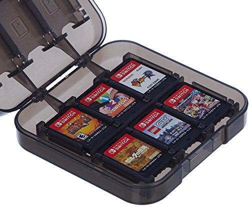 Basics Game Storage Case for 24 Nintendo Switch Games - 3.4 x 3.4 x 1 Inches,...