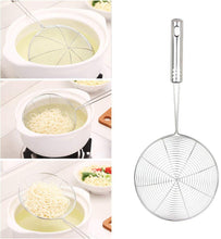 Load image into Gallery viewer, Swify Spider Set of 3 Asian Strainer Ladle Stainless Steel Wire Skimmer Spoon with Handle for Kitchen Frying Food, Pasta, Spaghetti, Noodle-30.5cm, 32cm, 35cm