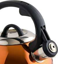 Load image into Gallery viewer, Mr. Coffee Flintshire Stainless Steel Whistling Tea Kettle, 1.75-Quart, Copper