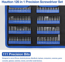 Load image into Gallery viewer, Hautton Precision Screwdriver Set, 126 in 1 Magnetic Screwdriver Kit, Multi-function Professional Repair Tool Kit with Portable Oxford Bag for Phone, Laptop, PC, Watch, Electronics, and More -Black