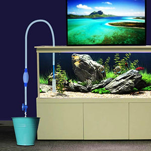 Songway Aquarium Gravel Cleaner/Gravel Vacuum for Aquarium Fish Tank/Aquarium Siphon with Filter, Airbag and Water Flow Controller/8.2ft Fish Tank Water Changer