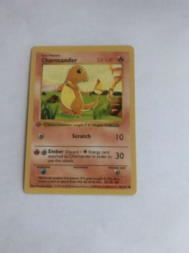 1999 Pokemon Charmander 1st Edition Rare Grey Stamp Mint Condition