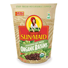 Load image into Gallery viewer, Sun-Maid Organic Raisins - Dried Fruit Snacks - Healthy Snacks For Kids - 32oz (One 2 LBS Resealable Bag) 2 Pound