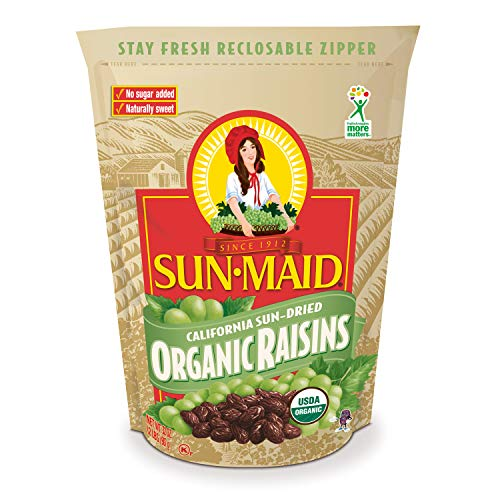 Sun-Maid Organic Raisins - Dried Fruit Snacks - Healthy Snacks For Kids - 32oz (One 2 LBS Resealable Bag) 2 Pound
