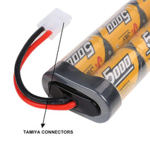 Load image into Gallery viewer, FLYLINKTECH 7.2v 5000mAh NiMH Rechargeable Battery Packs for RC Cars,Electric Rc Monster Trucks,Traxxas, LOSI, Associated, HPI, Tamiya, Kyosho with Tamiya Connectors