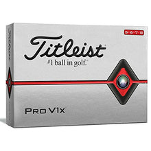 Load image into Gallery viewer, Titleist Pro V1x Golf Balls, White, High Play Numbers (5-8), One Dozen T2046s-H