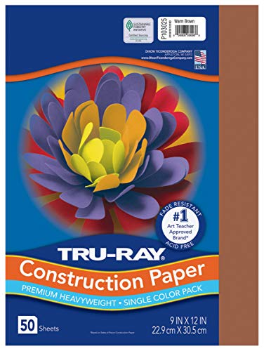 PACON Tru-Ray Heavyweight Construction Paper, Warm Brown, 9