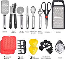 Load image into Gallery viewer, Home Hero Kitchen Utensil Set Cooking Utensils Set - Nylon Kitchen Utensils Set Kitchen Tool Set 44 Pcs. Cooking Utensil Set Kitchen Set Spatula Set Kitchen Gadgets Kitchen Tools Kitchen Accessories